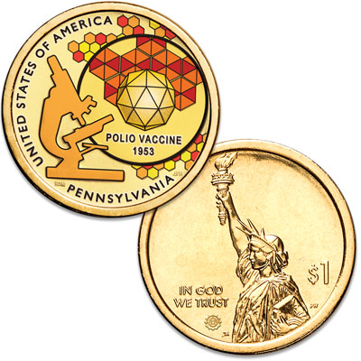 Image for 2019 Colorized Pennsylvania U.S. Innovation Dollar from Littleton Coin Company