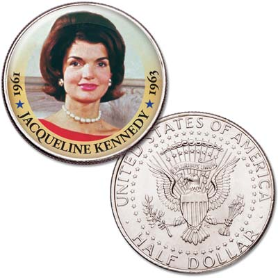 Image for Colorized First Spouses of America Half Dollar - Jacqueline Kennedy from Littleton Coin Company