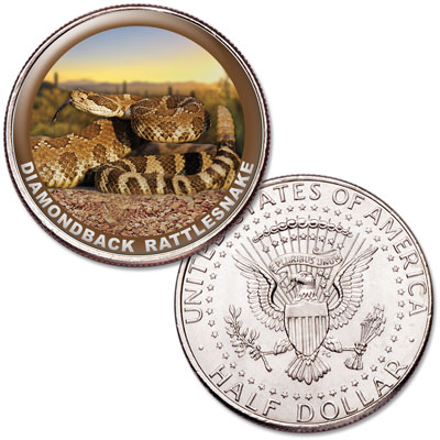 Image for Rattlesnake Colorized Kennedy Half Dollar from Littleton Coin Company