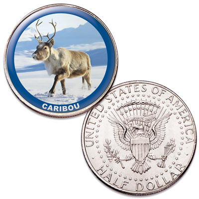 Image for Caribou Colorized Kennedy Half Dollar from Littleton Coin Company