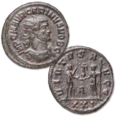 Image for A.D. 283-285 Carinus Bronze Antoninianus from Littleton Coin Company
