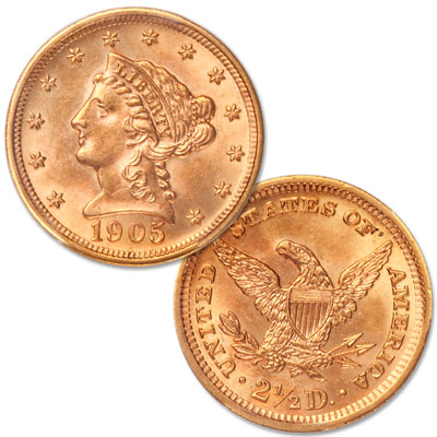 Image for 1901-1907 Gold $2.50 Liberty Head from Littleton Coin Company