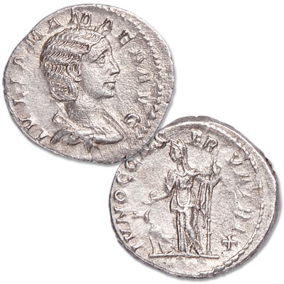 Image for A.D. 222-235 Julia Mamaea Silver Denarius from Littleton Coin Company
