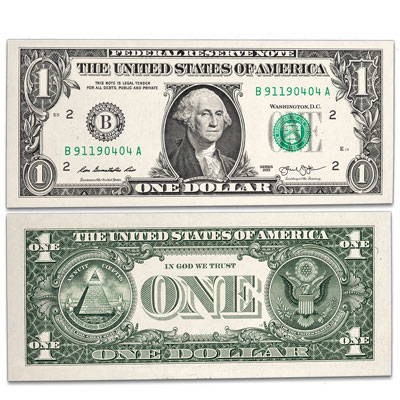 Image for 2013 $1 Federal Reserve Note with 911 Serial Number from Littleton Coin Company