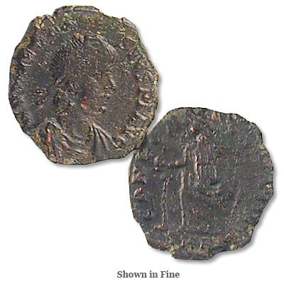Image for A.D. 379-395 Theodosius I Bronze Reduced Follis from Littleton Coin Company
