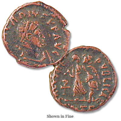 Image for A.D. 383-408 Arcadius Bronze Reduced Follis from Littleton Coin Company