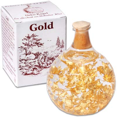 Image for Round Glass Bulb with 24K Gold Flakes from Littleton Coin Company