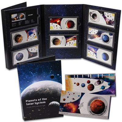 Image for Solar System Silver Note Set from Littleton Coin Company