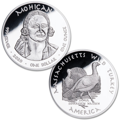 Image for 2020 Jamul Nation Mohican Tribe & Wild Turkey Silver Dollar from Littleton Coin Company