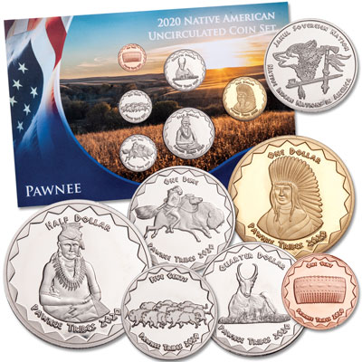 Image for 2020 Jamul Indian Coin Set - Pawnee from Littleton Coin Company
