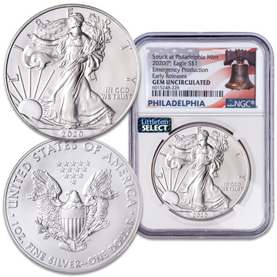 Image for 2020 $1 Silver American Eagle - Emergency Production from Littleton Coin Company