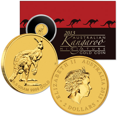 Image for 2013 Australia 1/2 Gram Gold $2 Kangaroo from Littleton Coin Company