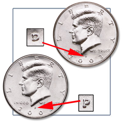 Image for 2003 P&D Kennedy Half Dollars (2 coins), Uncirculated from Littleton Coin Company