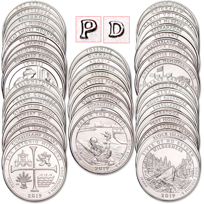 Image for 2010-2019 P&D America's National Park Quarter Set from Littleton Coin Company