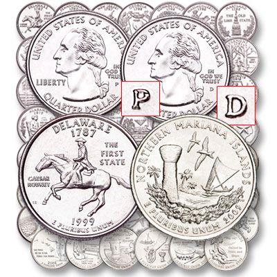 Image for 1999-2009 Complete P&D Statehood, D.C. & U.S. Territories Quarters Set (112 coins), Uncirculated, MS60 from Littleton Coin Company