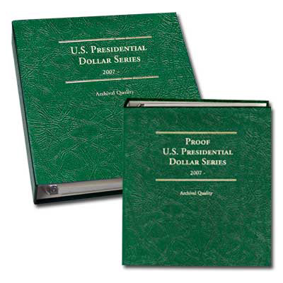 Image for 2007-2016 PD&S Presidential Dollar Albums from Littleton Coin Company
