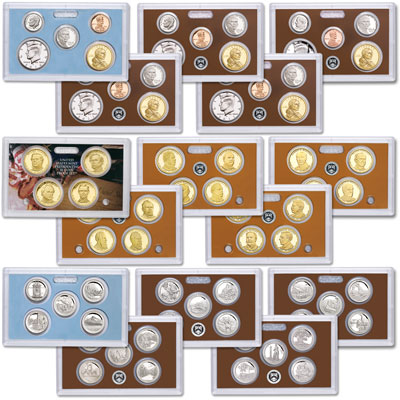 Image for 2010-2014 Five S-Mint Clad Proof Sets from Littleton Coin Company