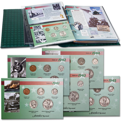 Image for 1941-1945 All Five WWII Year Sets from Littleton Coin Company