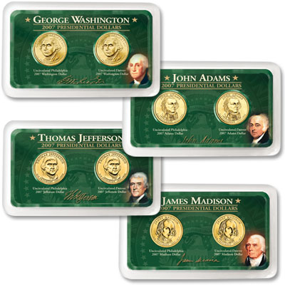 Image for 2007 P&D Presidential Dollar Showpaks from Littleton Coin Company