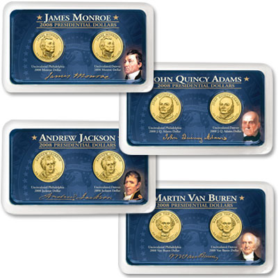 Image for 2008 P&D Presidential Dollar Showpaks from Littleton Coin Company
