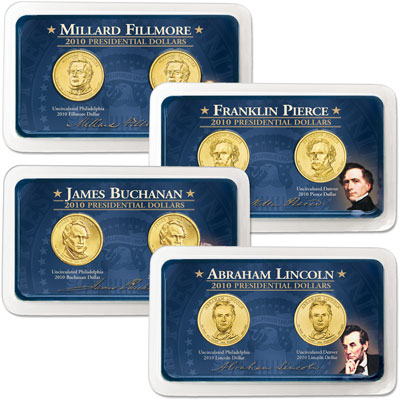 Image for 2010 P&D Presidential Dollar Showpaks from Littleton Coin Company