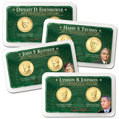 Image for 2015 P&D Presidential Dollar Showpaks from Littleton Coin Company