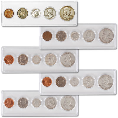 Image for 1952-1959 Five 1950s Silver Year Sets from Littleton Coin Company