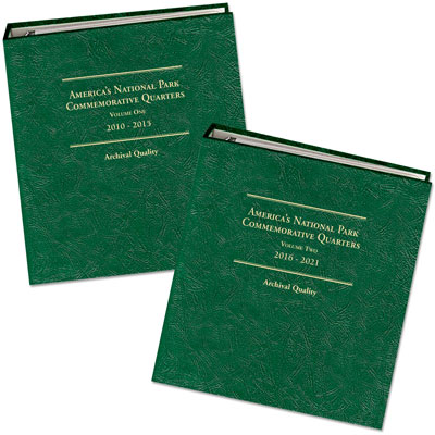 Image for 2010-2021 PDSS America's National Park Quarter Series Album Set (Volumes 1 & 2) from Littleton Coin Company