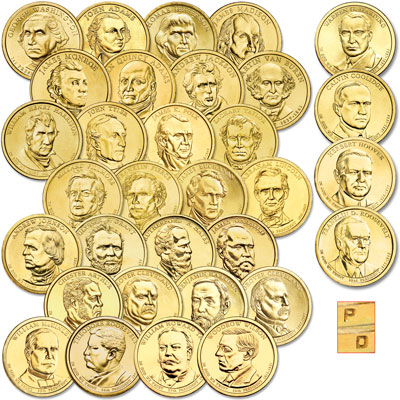 Image for 2007-2014 P&D Presidential Dollar Year Sets (64 coins) from Littleton Coin Company