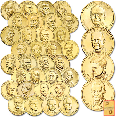 Image for 2007-2015 P&D Presidential Dollar Year Sets from Littleton Coin Company
