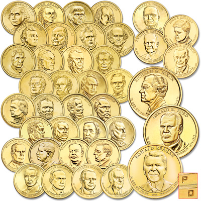 Image for 2007-2016 P&D Presidential Dollar Year Sets from Littleton Coin Company
