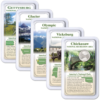 Image for 2011 National Park Quarters in Showpaks from Littleton Coin Company