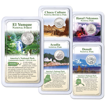 Image for 2012 National Park Quarters in Showpaks from Littleton Coin Company