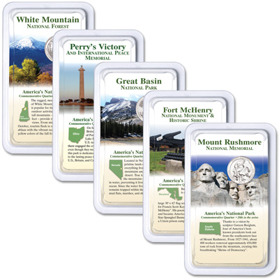 Image for 2013 National Park Quarters in Showpaks from Littleton Coin Company
