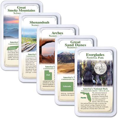 Image for 2014 National Park Quarters in Showpaks from Littleton Coin Company