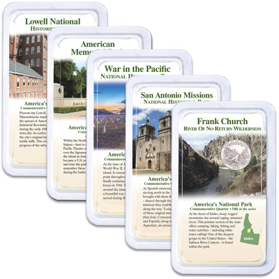 Image for 2019 National Park Quarters in Showpaks from Littleton Coin Company