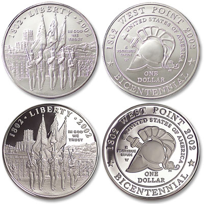 Image for 2002-W Both West Point Bicentennial Silver Dollars from Littleton Coin Company