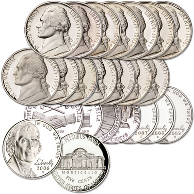 Image for 1990-2009 Complete Jefferson Nickel Decade Set from Littleton Coin Company