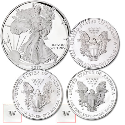 Image for 2017 Silver American Eagles Set from Littleton Coin Company