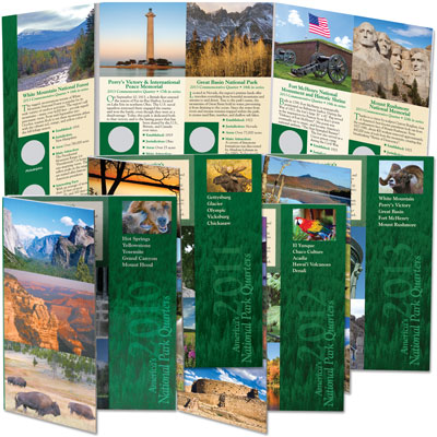 Image for 2010-2013 All Four National Park Quarter Folders from Littleton Coin Company