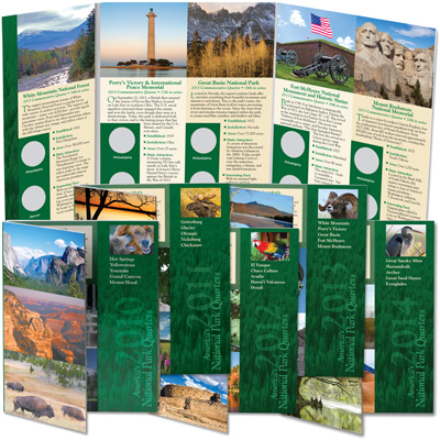 Image for 2010-2014 All Five National Park Quarter Folders from Littleton Coin Company