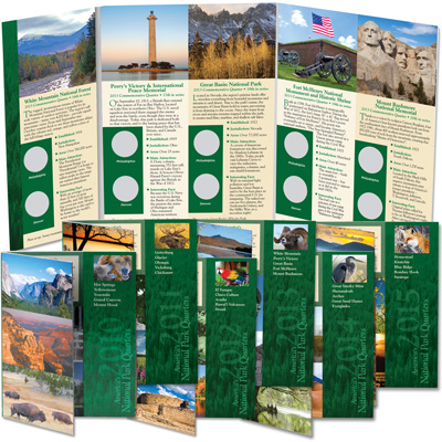 Image for 2010-2015 All Six National Park Quarter Folders from Littleton Coin Company