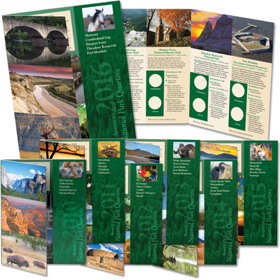 Image for 2010-2016 All Seven National Park Quarter Folders from Littleton Coin Company