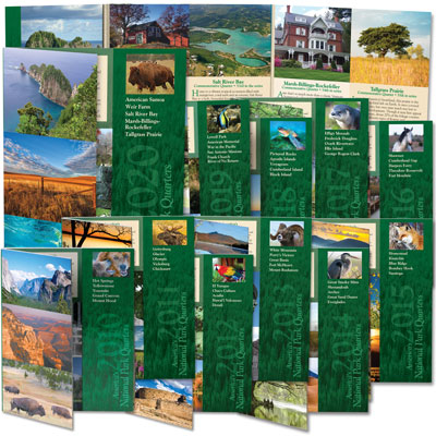Image for 2010-2020 All Eleven National Park Quarter Folders from Littleton Coin Company