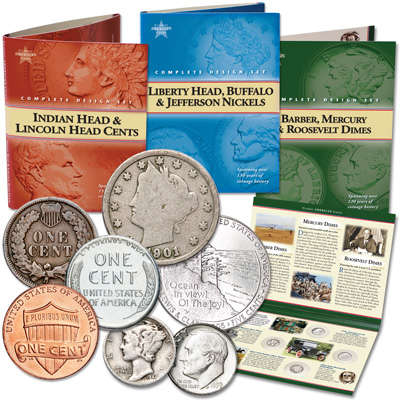 Image for Classic American Coin Sets - Cents, Nickels and Dimes from Littleton Coin Company