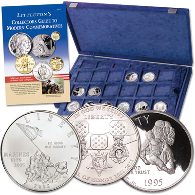 Image for Ten Military Commemorative Silver Dollars from Littleton Coin Company
