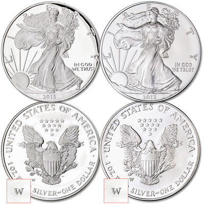 Image for 2015-W Burnished and Proof Silver American Eagles from Littleton Coin Company