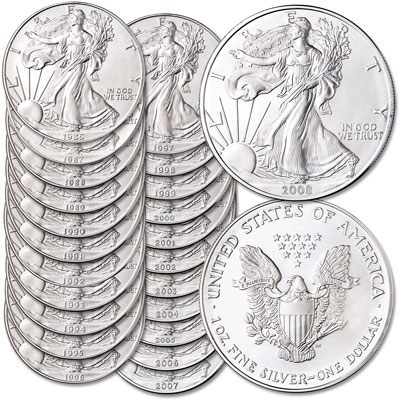 Image for 1986-2008 American Silver Eagle Year Set from Littleton Coin Company