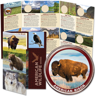 Image for American Wildlife Series Custom Folder and American Bison Coin from Littleton Coin Company