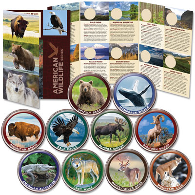 Image for American Wildlife Series Custom Folder and Coins from Littleton Coin Company